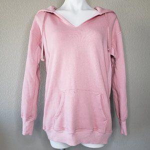 Wildfox | Blush Pink Front Pocket Cotton Hoodie XS